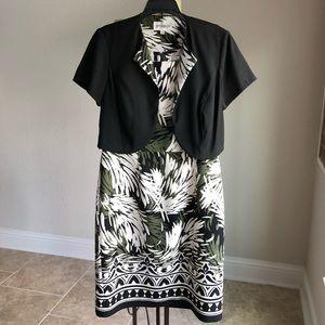 Studio One Sheath Dress with Jacket Size 10 NWOT